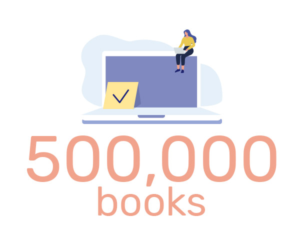 iUniverse sells more than 500,000 books in 2001.