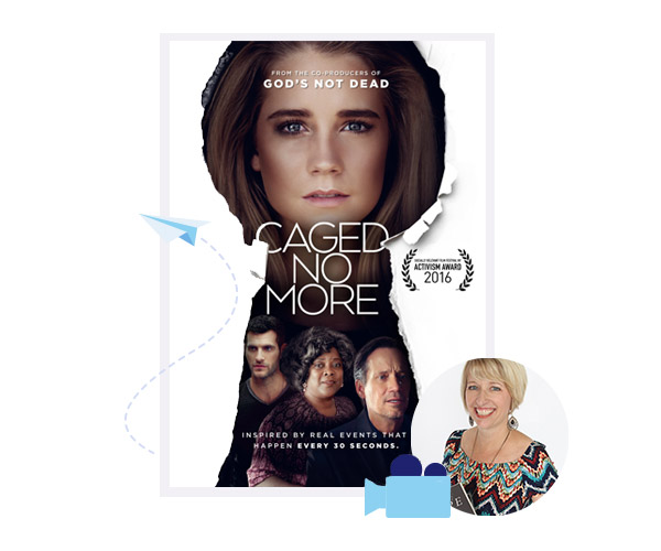 Caged No More movie poster based off iUniverse's author Susan Norris' book Rescuing Hope.